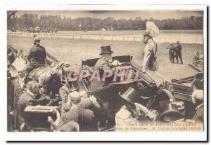Visite de S M Alphonse XIII a Paris Ansichtskarte AK revue de Vincennes M Loubet monte en voiture