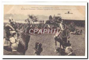Visite de S M Alphonse XIII a Paris Ansichtskarte AK revue de Vincennes Officiers espagnols sur le terrain de man