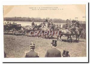Visite de S M Alphonse XIII a Paris Ansichtskarte AK revue de Vincennes le depart