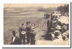 Visite de S M Alphonse XIII a Paris Ansichtskarte AK Revue de Vincennes Le defile des troupes