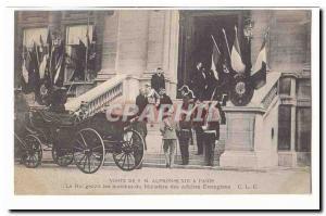 Visite de S M Alphonse XIII a Paris Ansichtskarte AK Le Roi gravit les marches du Ministere des Affaires Etranger