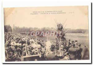 Visite de S M Alphonse XIII a Paris Ansichtskarte AK Vincennes Arrivee de la voiture presidentielle