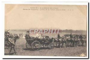 Visite de S M Alphonse XIII a Paris Ansichtskarte AK revue de Vincennes Le Roi de sa voiture salue la foule