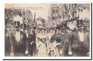 Visite de S M Alphonse XIII a Paris Ansichtskarte AK La reine des Halles et son entourage