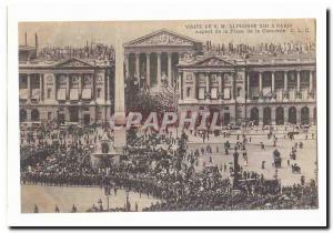Visite de S M Alphonse XIII a Paris Ansichtskarte AK Aspect de la place de la Concorde