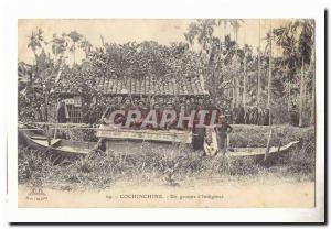 vienam Cochinchine Ansichtskarte AK Un groupe d'indigenes