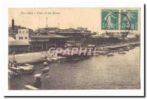 Egypt Egypte Port Said Ansichtskarte AK view of the Quays