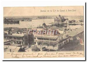 Egypte Egypt Bureau de la Cie du canal a Port Said Ansichtskarte AK
