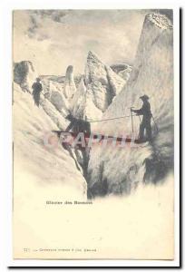 Ansichtskarte AK Glacier des Bossons (alpinisme)