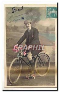 Ansichtskarte AK De Breuil je vous envoie le bonjour (cycliste velo)