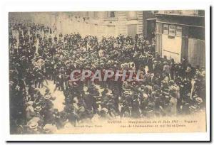 Nantes Ansichtskarte AK Manifestations du 14 juin 1903 Bagarre rue de Chateaudun et rue Saint Denis