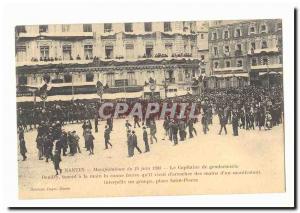 Nantes Ansichtskarte AK Manifestations du 14 juin 1903 Le capitaine de gendarmerie Bandry tenant a la main la can