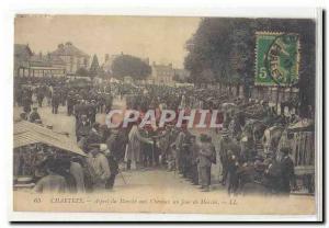 Chartres Ansichtskarte AK Aspect du marche aux chevaux un jour de marche