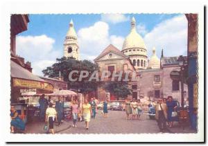 Paris (18eme) Ansichtskarte AK Le Sacre Coeur de Montmartre et la place du Tertre