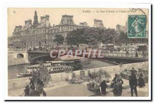 Paris (1er) Ansichtskarte AK Le pont d'Arcole et l'hotel de ville (marche aux fleurs) TOP