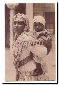 MAroc Ansichtskarte AK Mauresque et son enfant