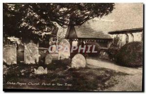 Buckinghamshire England-- Stoke Poges Church and Yew Tree -Ansichtskarte AK