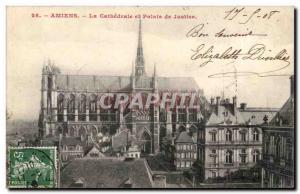 Amiens La Cathedrale et Palais de Justice Ansichtskarte AK