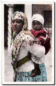 Algerie Ansichtskarte AK scenes et types Mauresque et son enfant