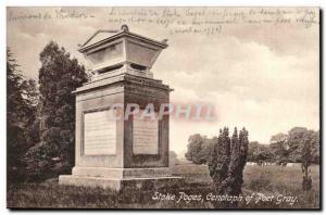 Grande Bretagne Great Britain Ansichtskarte AK Stoke Poges Cenotaph of poet Gray