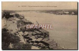 Vietnam - saigon - Vue panoramique des Quais et la Rivier de Saigon - Ansichtskarte AK