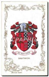 Grande Bretagne Great BRitain Ansichtskarte AK Droitwich Lion Heraldry snake Armoreries