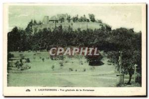Ansichtskarte AK lichtenberg Vue generale de la forteresse