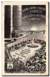 Paris - 8 - Tombeau de Soldat Inconnu - Illustration - Gloire a Notre France Eternelle - Ansichtskarte AK