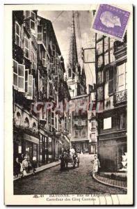 Bayonne Ansichtskarte AK Rue de l'argenterie Carrefour des cinq cantons