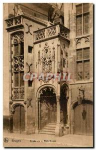 Ansichtskarte AK Belgique Bruges Entree de la bibliotheque library