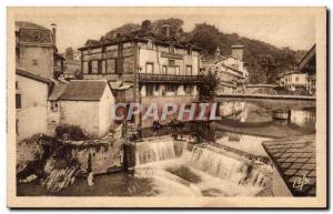 Ansichtskarte AK Saint Jean Pied de Port Vieilles maisons sur la Nive
