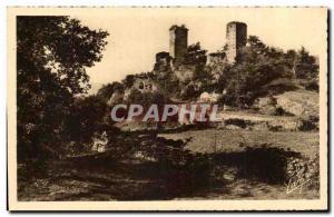 Pyrenees Ansichtskarte AK Argeles Gazost Ruines du chateau de Beaucens