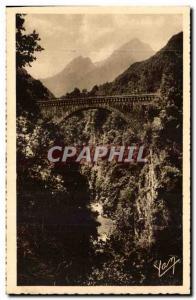 Pyrenees Ansichtskarte AK St SAuveur les Bains Pont Napoleon au dessus du Gave