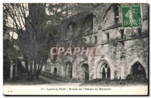 Ansichtskarte AK Lyons la Foret Ruines de l'abbaye de Mortemer