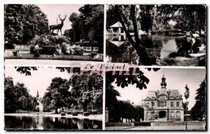 Moderne Karte Le Vesinet Le rond point Royale Les Ibis Lac de Croissy La mairie