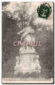 Ansichtskarte AK Rochefort sur Yvelines Une statue dans le parc