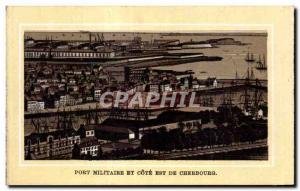 Ansichtskarte AK Cherbourg Port militaire et cote Est de Cherbourg