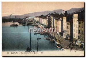 Ansichtskarte AK Toulon Vue d Ensemble des Quais
