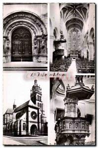 Moderne Karte L Isle Adam Portail de I Eglise Interieur de I Eglise Facde de I Eglise Chaire de I Eglise