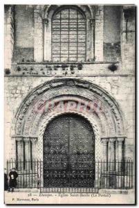 Ansichtskarte AK Etampes Eglise saint Basile (Le Portail)