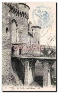 Ansichtskarte AK Vitre Le Pont Levis du Chateau