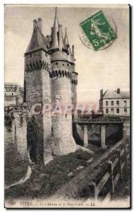 Ansichtskarte AK Vitre Le Chateau et le Pont Levis