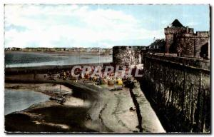 Ansichtskarte AK En Bretagne Saint Malo La Grande Plage et la Tour Qui Qu en Grogne