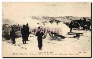 Ansichtskarte AK Camp de Mailly Ecoles a Feu Piece de sur Affut d col de Cygne et a Glissement Piece Feu Militari