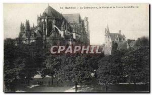 Ansichtskarte AK Nantes La cathedrale La porte et le cours Saint Pierre