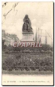 Ansichtskarte AK Le Havre La Statue de Bernardin de Saint Pierre