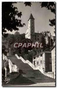 Moderne Karte Auch L Escalier Monumental et la Tour d Armagnac