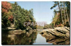 Moderne Karte The Narrows Upper Dells of the Wisconsin River
