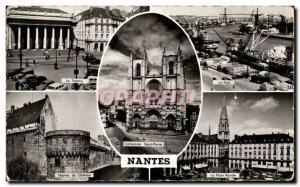 Ansichtskarte AK Nantes Theatre Le port Douves du chateau la Place royale