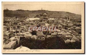 Ansichtskarte AK Jerusalem Et Le Mont Des Oliviers